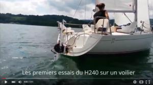 Capture Essai H240 sur un voilier