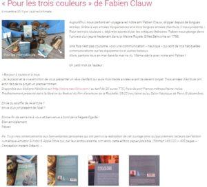 """Article """"Pour les trois couleurs"""" Fabien Clauw"""